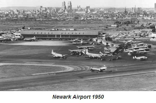 Newark Airport limo services - Newark airport history 1950
