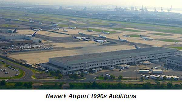 Newark Airport limo services - Newark Airport history 1990s
